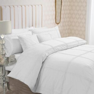 8-Pcs-Dyed-Pleated-White-Bed-Sheet-Set-with-Quilt-Pillow-and-Cushions-Covers