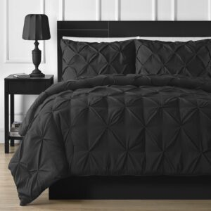 Diamond Black Bed Sheet Set with Quilt, Pillow and Cushions Covers 02