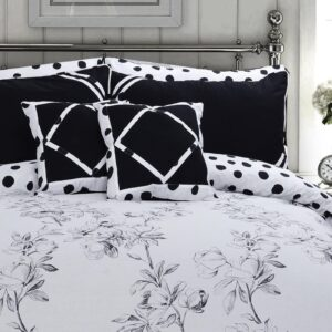 Angela Grey Floral 8 Pcs Duvet Cover Bedding Set 02