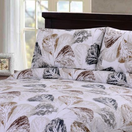 Dorma Leaves 3 Pcs Bedding Set