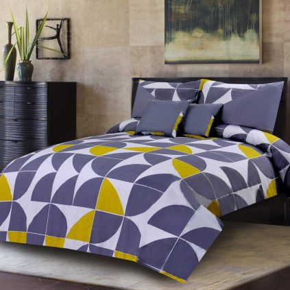 Pulp Grey 5 Pcs Bedding Set