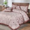 5 Pcs Heavy Palachi Velvet Brown Bedding Set 01